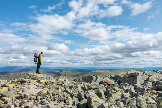 Fotospots Norwegen Auf dem Gaustatoppen