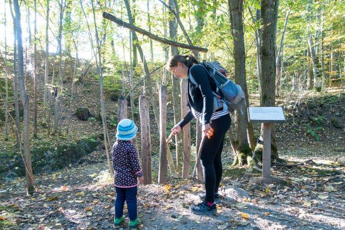 Ludwigsschlucht Bad Kohlgrub mit Kleinkind
