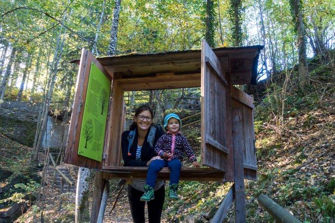 Timberland Trail Bad Kohlgrub mit Kleinkind