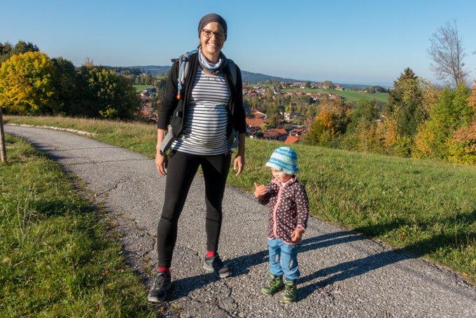 Wanderung Hörnle unterwegs mit Kleinkind