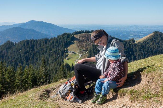 Wanderung Hinteres Hörnle mit Kleinkind