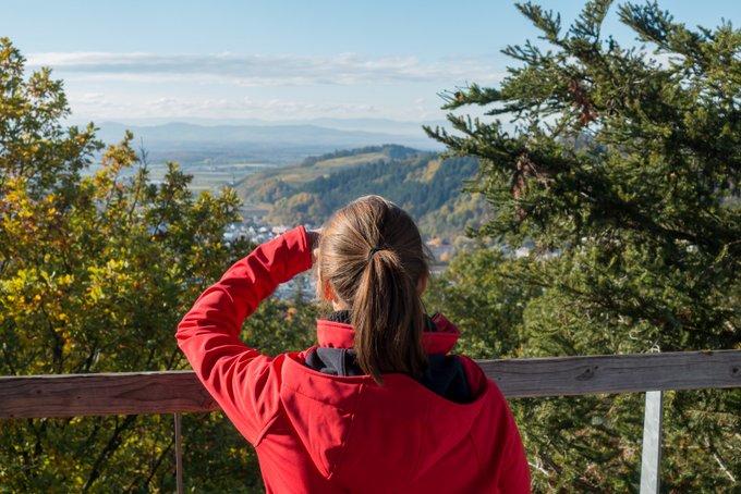Aussicht vom Braumkroneneweg Waldkirch Schwarzwald