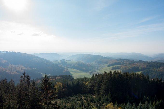 Aussicht vom Hünersedel Turm Schwarzwald