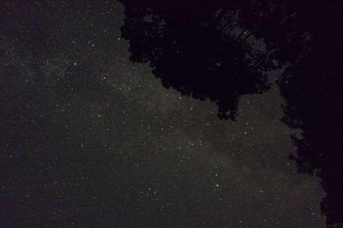 Milchstraße fotografiert mit Sony RX100 Kompaktkamera