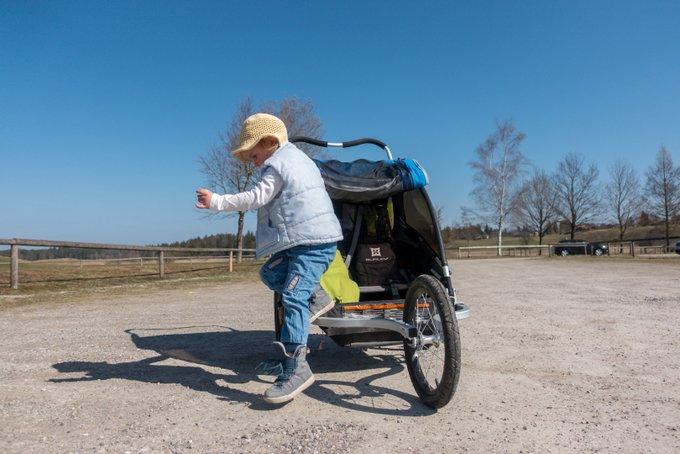 Wandern mit Fahrradanhäger Vorteile