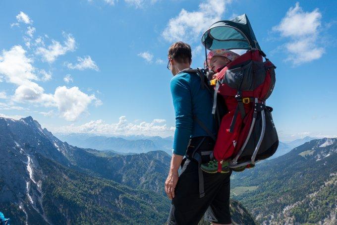Wandern mit Tragerucksack Stripsenkopf
