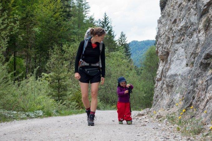 Wandern mit Kleinkind Selbst laufen
