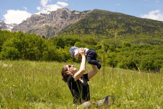 Alpenüberquerung Baby Spaß