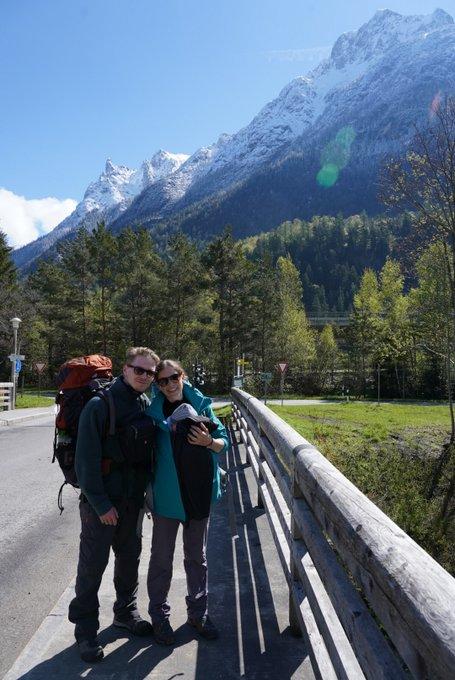 Alpenüberquerung mit Baby Berge
