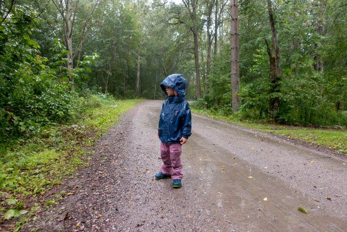 Regenwetter in Schweden