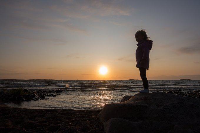 Schweden mit Kind Sonnenuntergang
