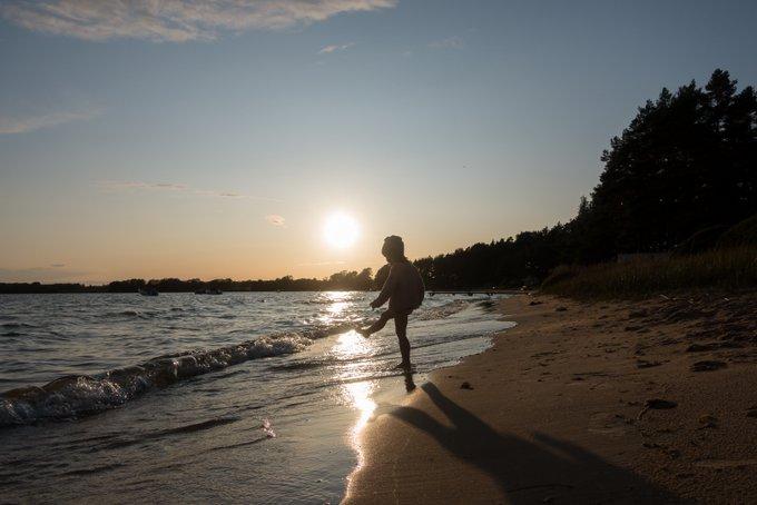 Sommerurlaub Schweden Sonnenuntergang