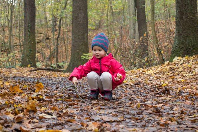 Wandern im Herbst Mütze und Handschuhe