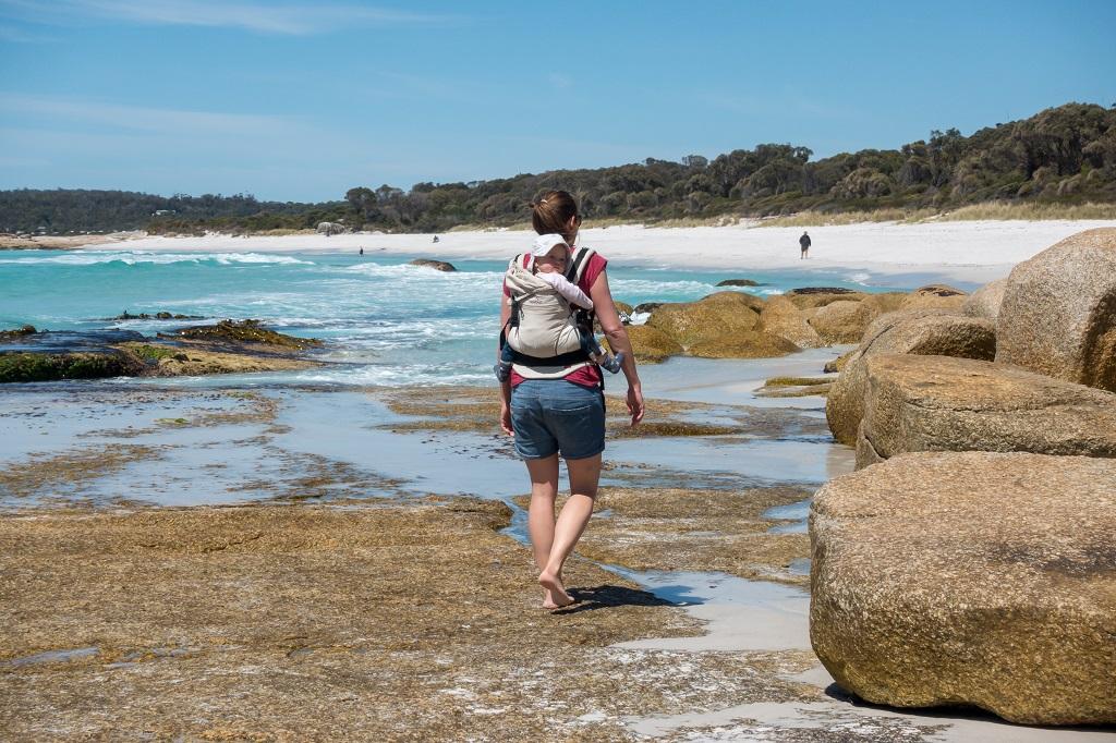 Fullbuckle Tragehilfe Wandern am Strand