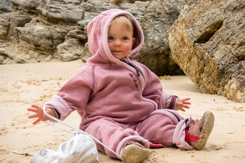 Jumpsuit aus Wolle Aktiv mit Baby
