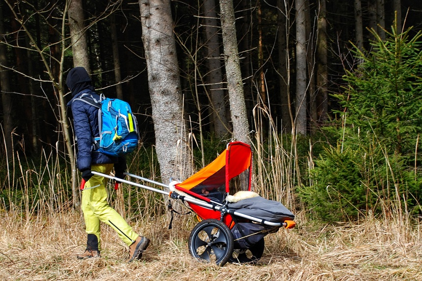 Hike Kid Outdoor Kinderwagen im Einsatz