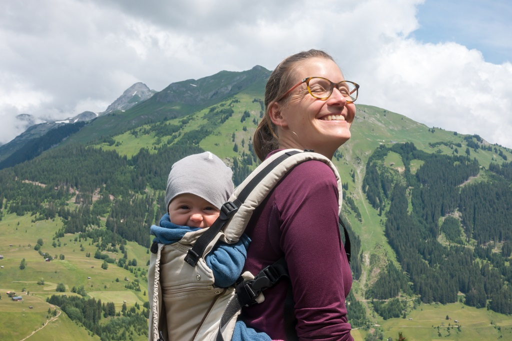 Wandern mit Baby Babytrage