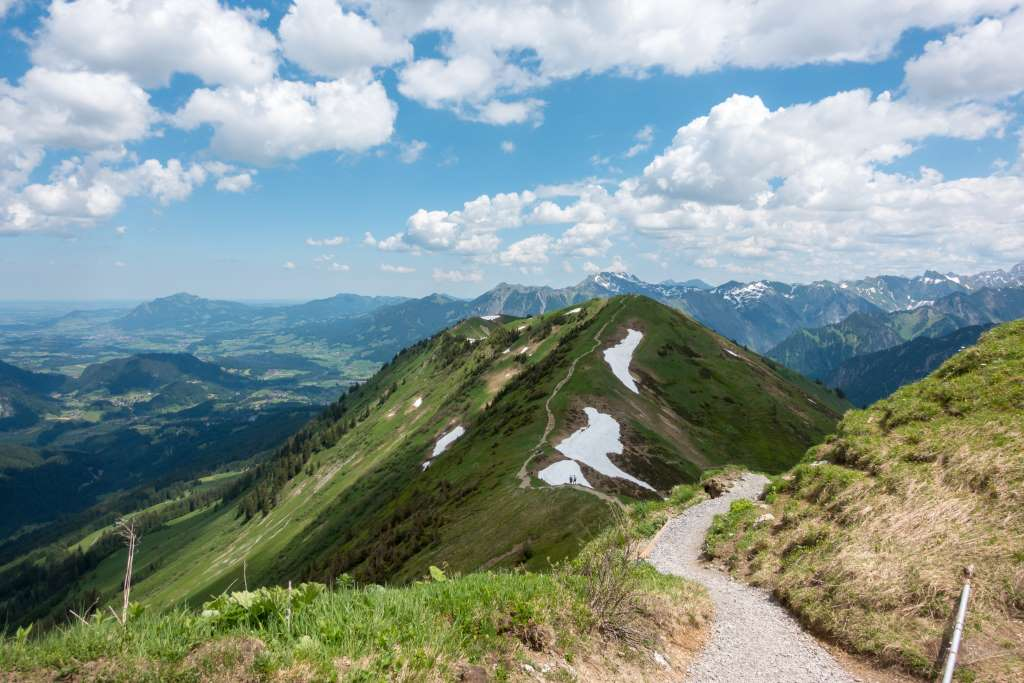 Wandern im Sommer auf dem Fellhorn