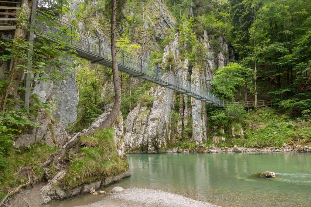 Hängebrücke Entenlochklamm Chiemsee