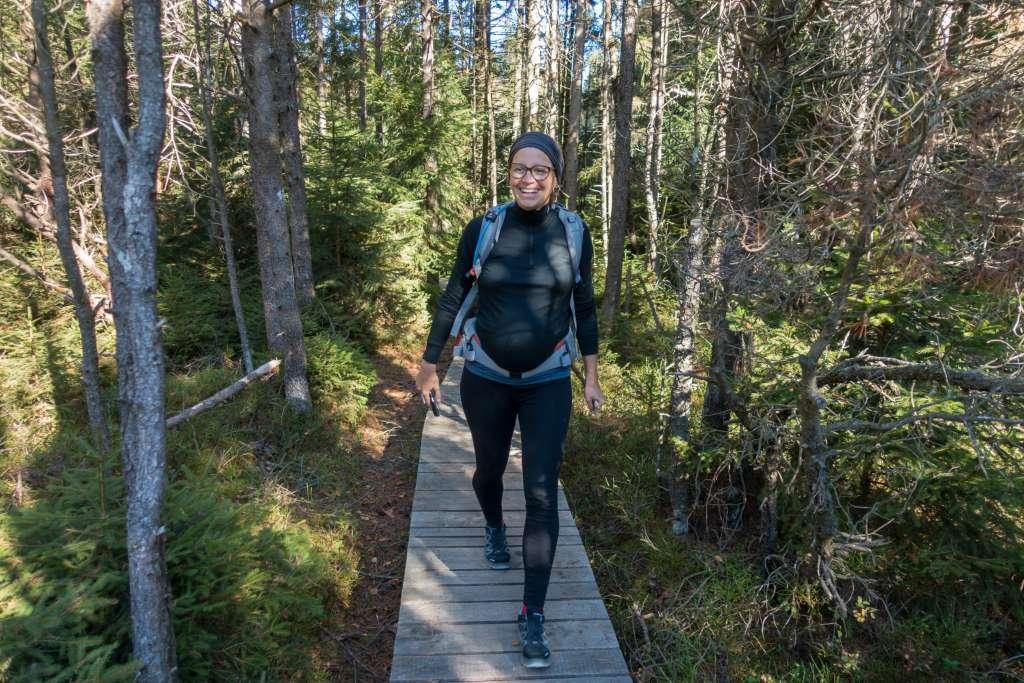 Wandern schwanger Wohlbefinden