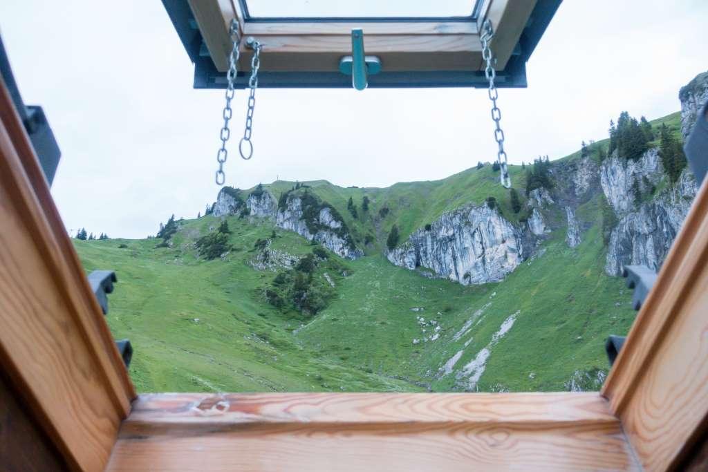 Bergblick vom Bettenlager Stie-Alm