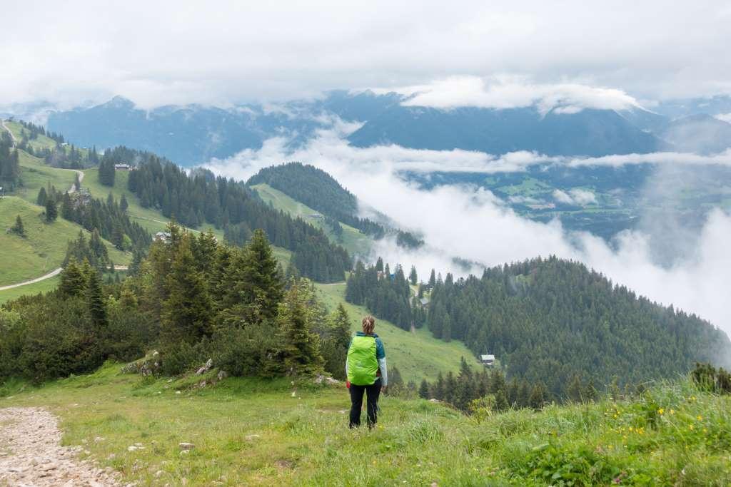 Blick vom Brauneck Höhenweg