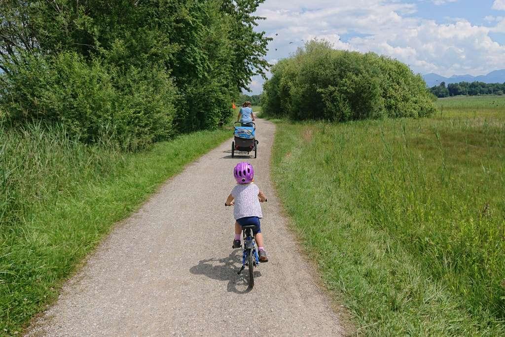 Chiemseeumrund mit dem Fahrrad mit Kindern