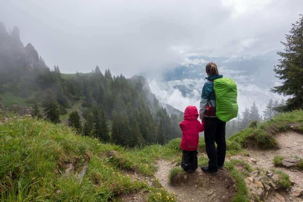 Mystische Wolcken Brauneck mit Kindern