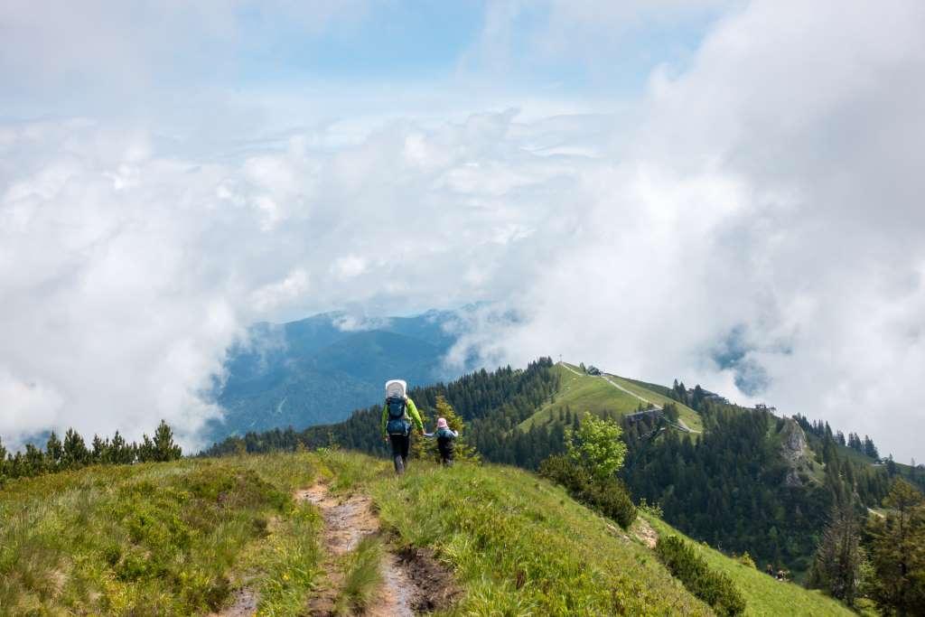Wandern Brauneck Panorama Kinder