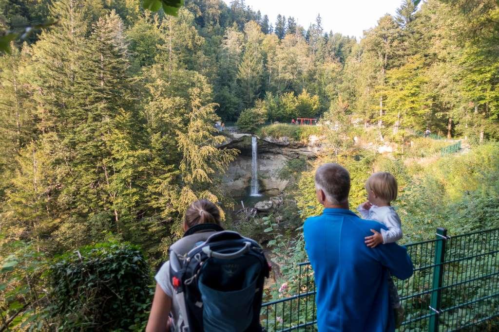 Aussichtstplattform Scheidegger Wasserfälle