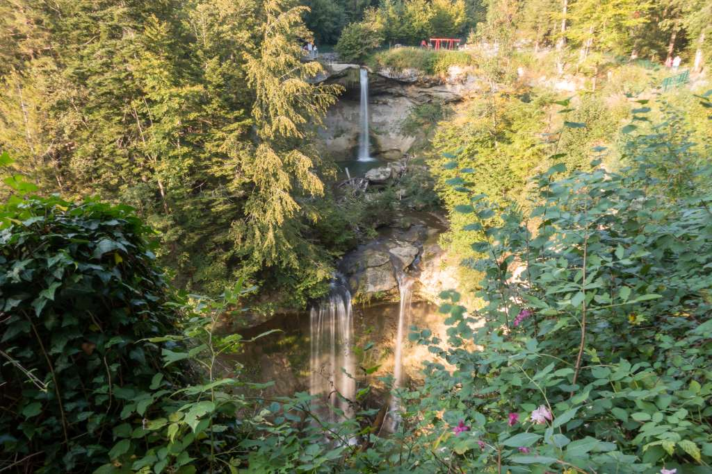 Blick auf die Scheidegger Wasserfälle