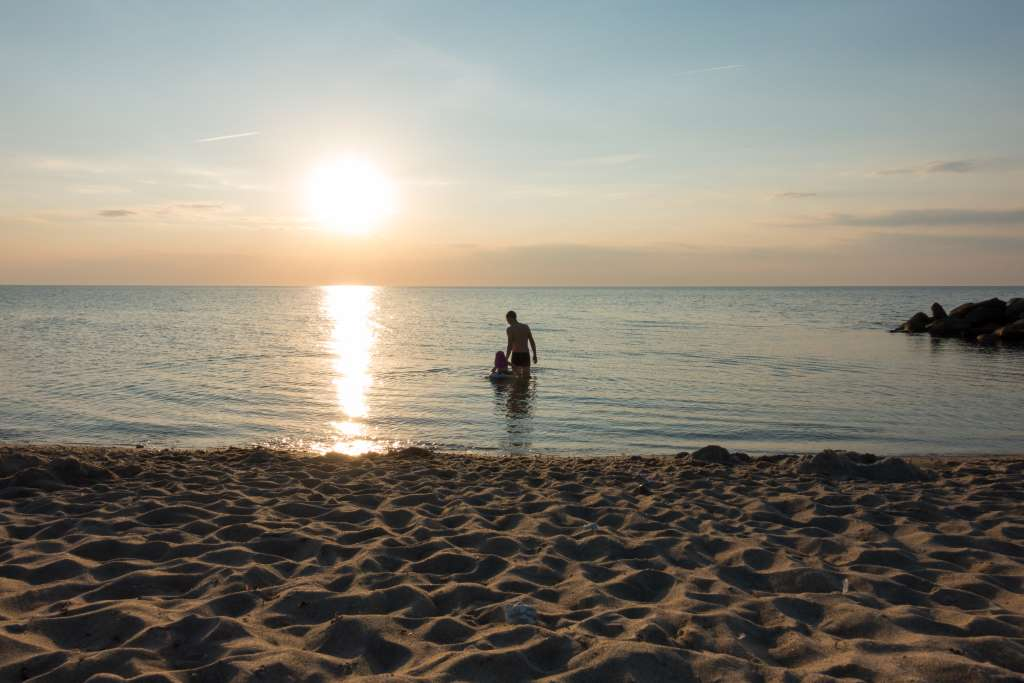 Sonnenuntergang Dänemark mit Kindern