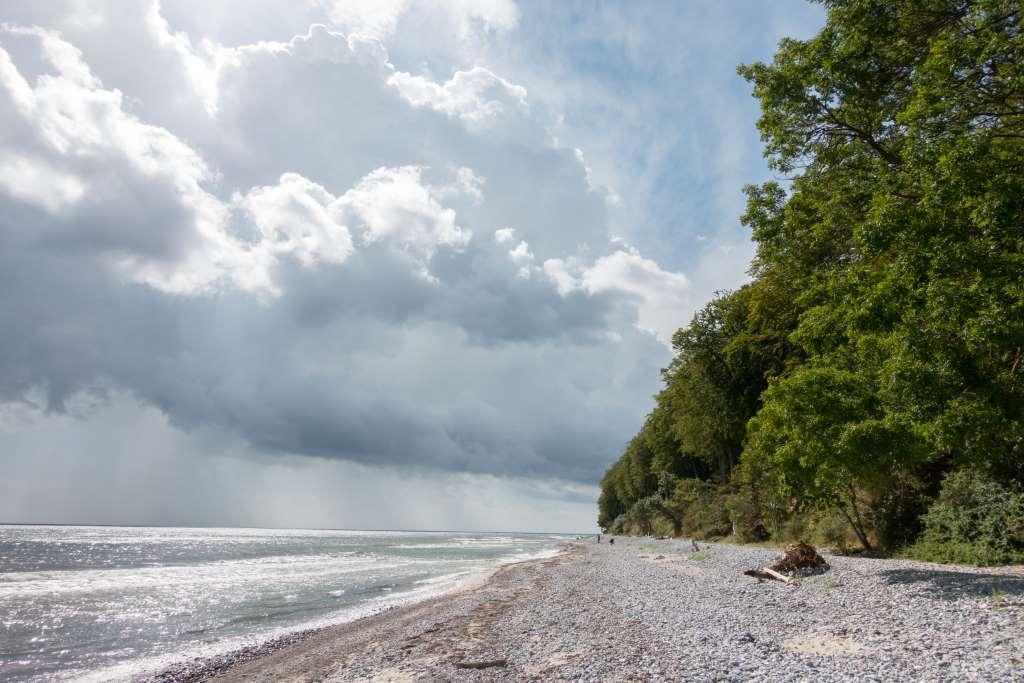 Strand auf Møn mit Steinen