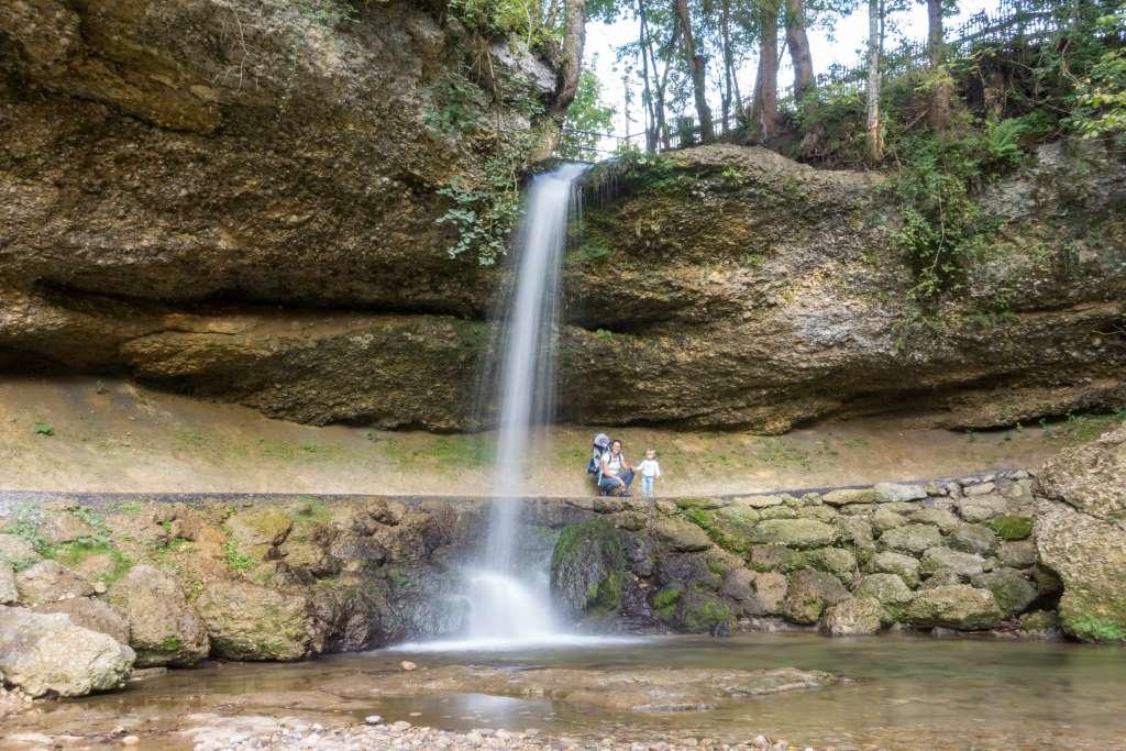 Wasserfall Scheidegg mit Kindern