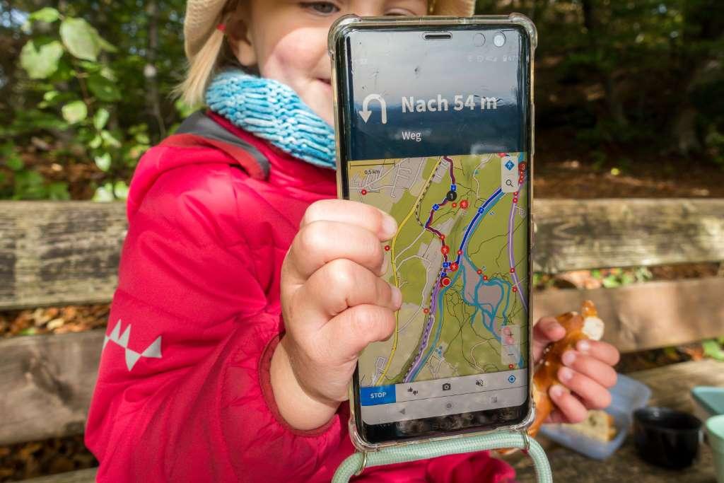 Komoot App Wandern mit Kindern