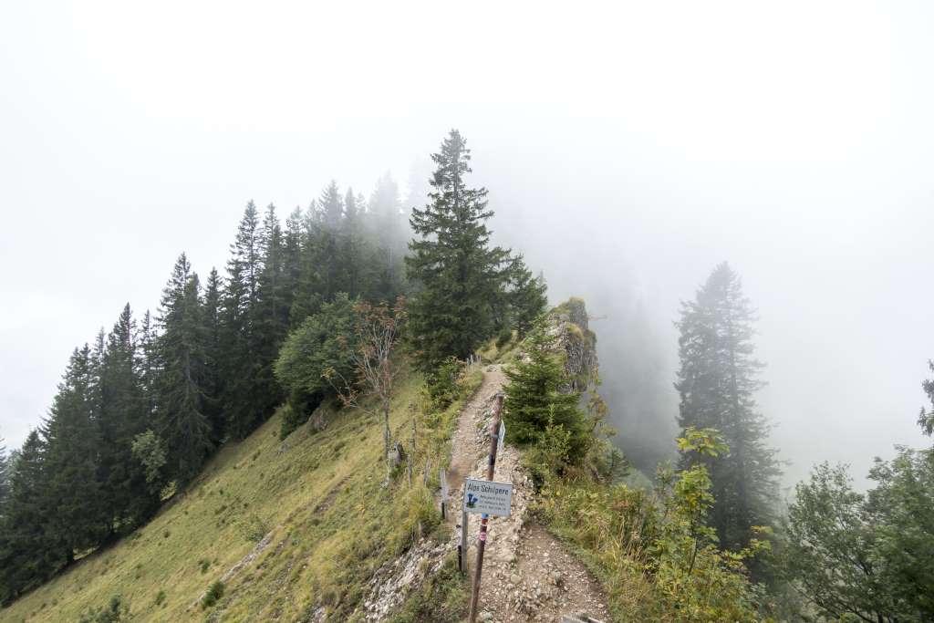 Luftiger Grat Nebel
