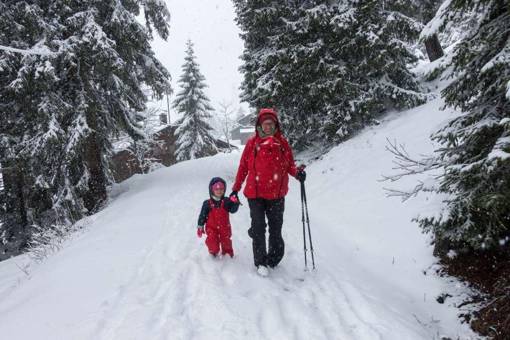 Obere Firstalm Abstieg im Schnee