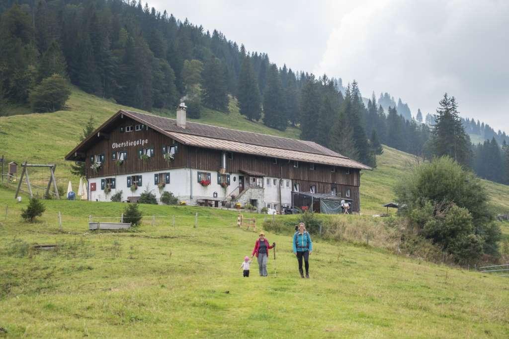 Oberstiegalpe Wandern mit Kindern Allgäu
