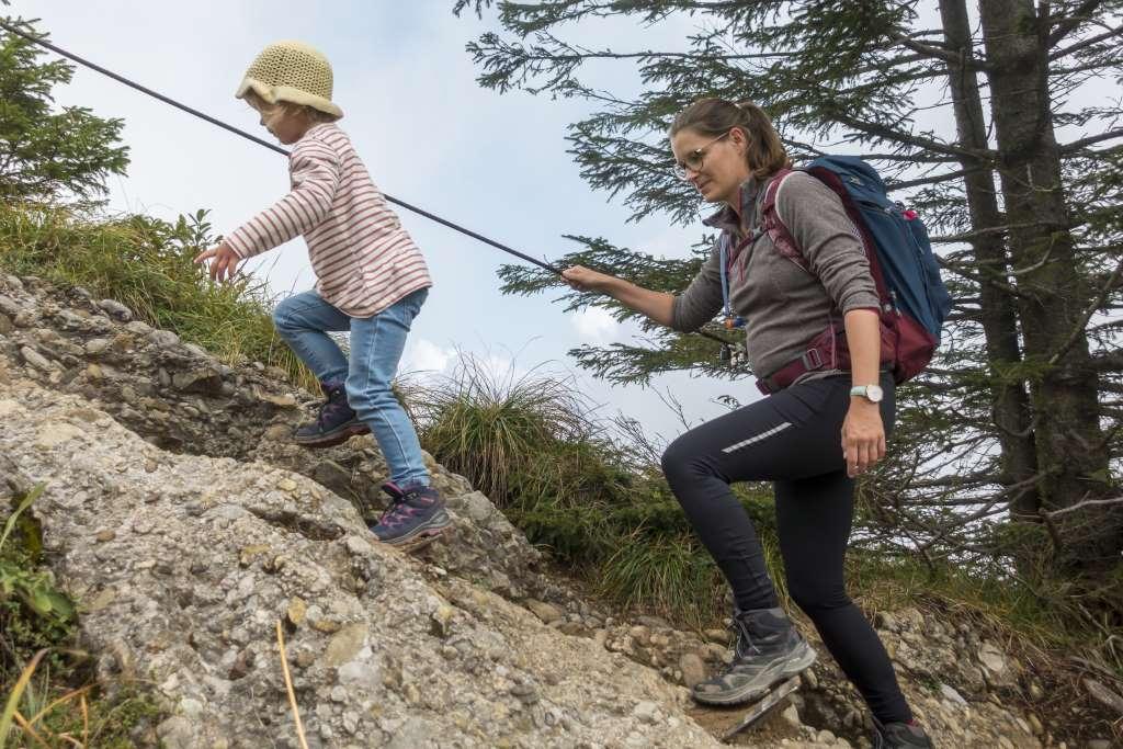 Wandern mit Kindern Luftiger Grat