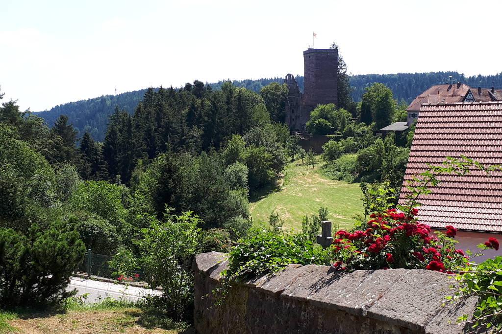 Wandern mit Kindern Zavelstein-Burgblick