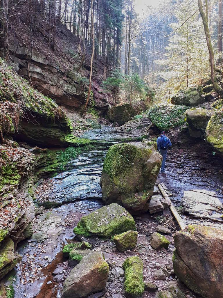 Wolfsschlucht Wandern mit Kindern Nordschwarzwald