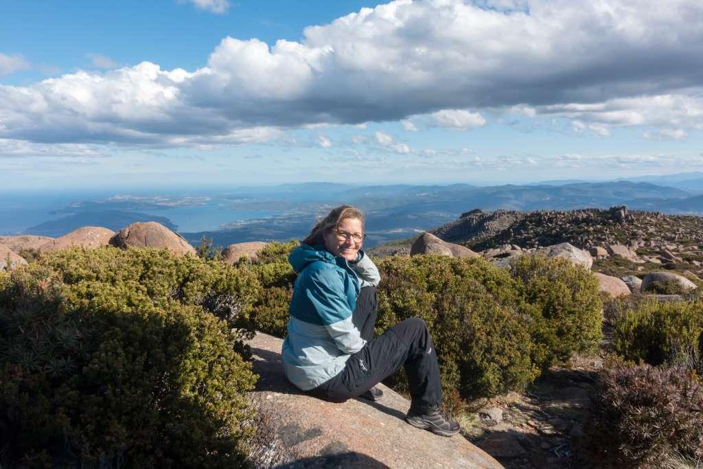 Aussicht genießen Mt. Wellington Tasmanien