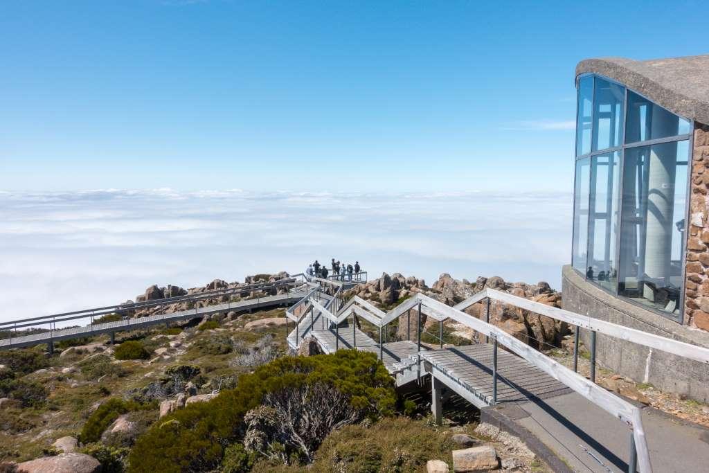 Aussichtsplattform Mount Wellington Tasmanien