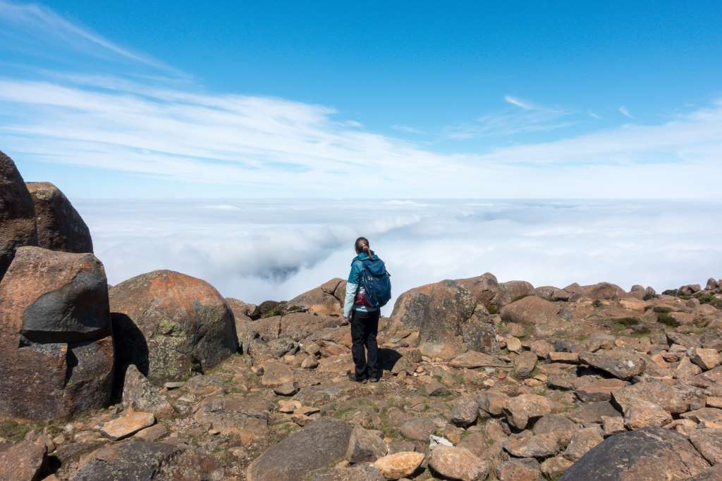 Mount Wellington Tasmanien Gipfel