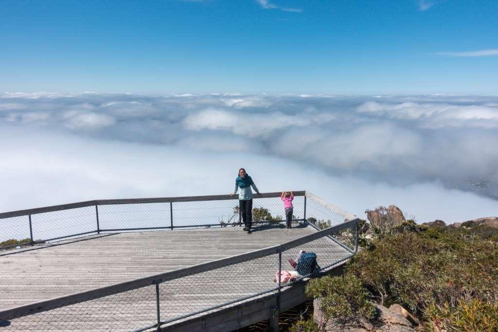 Mt. Wellington Aussicht Tasmanien Reise
