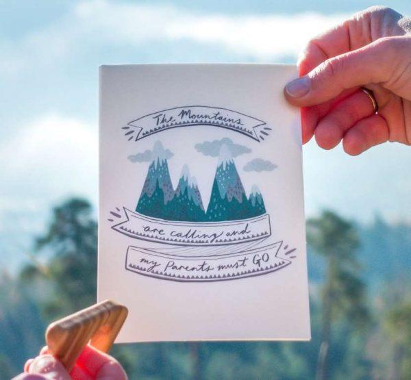Postkarten The Mountains Eltern Baby
