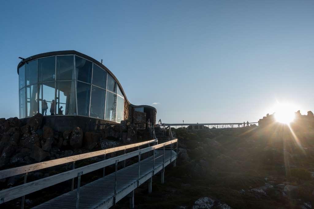 Sonnenuntergang kunanyi Mount Wellington