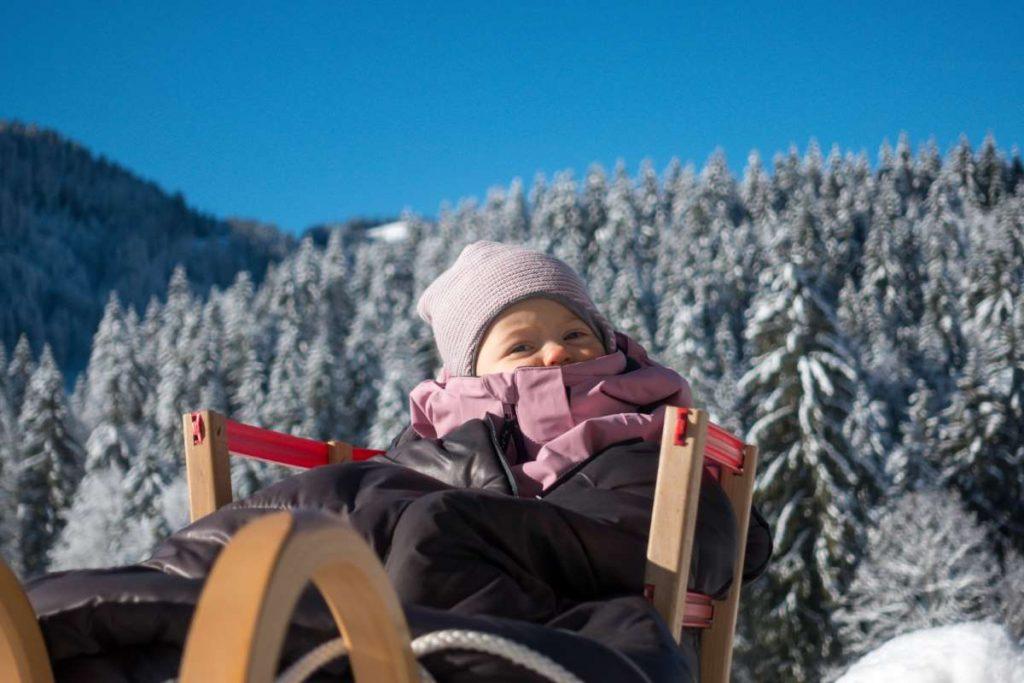 Wandern Winter Schlitten
