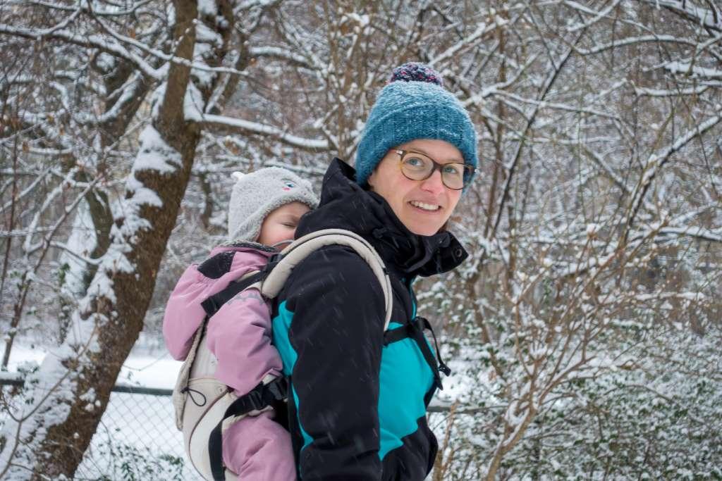 Wandern Winter Trage