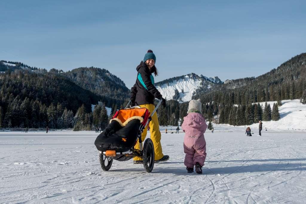 Wandern mit Hike Kid im Winter